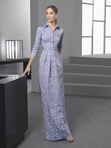 Eugenia Silva con un vestido de cuello camisero de la colección 'Cocktail 2017' de Rosa Clará