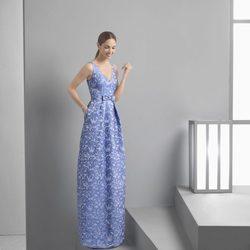 Eugenia Silva con un vestido largo de la colección 'Cocktail 2017' de Rosa Clará