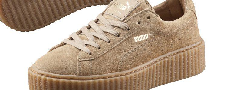 Sneakers total camel de la colección 'Creeper by Rihanna' de Puma
