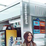 Julia Restoin con una chaqueta animal print de Mango colección 'Journey'