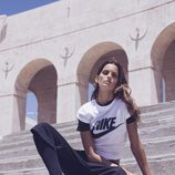 Izabel Goulart con ropa fitness de la colección 'Beautiful X Powerful' de Nike