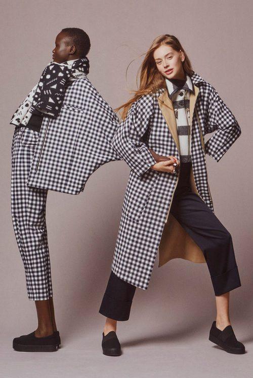 Abrigo y chaqueta de cuadros de Esprit y Opening Ceremony otoño/invierno 2016/2017