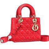 Bolso rojo intenso de la colección Lady 2017 de Dior