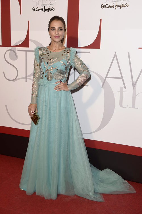 Paula Echevarría con un vestido de Jorge Vázquez en los premios ELLE Style 2016