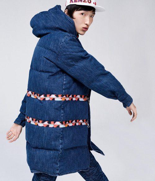 Abrigo oversize denim de la colección 'Kenzo x H&M'