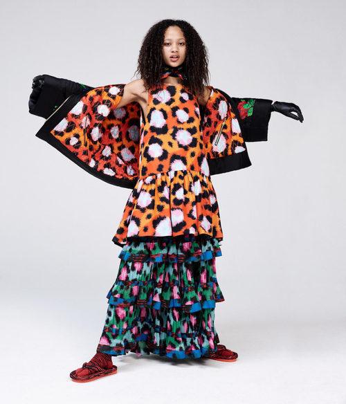 Vestido animal print color naranja de la colección 'Kenzo x H&M'