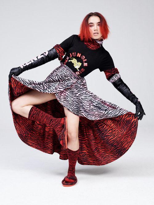 Falda reversible de la colección 'Kenzo x H&M'