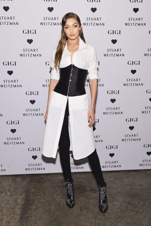 Gigi Hadid en la presentación de los botines 'Gigi Boot' de Stuart Weitzman en Nueva York
