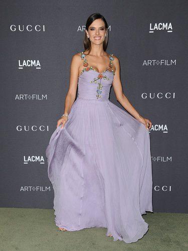 Alessandra Ambrosio con un vestido de Gucci en la Gala LACMA Art + Film