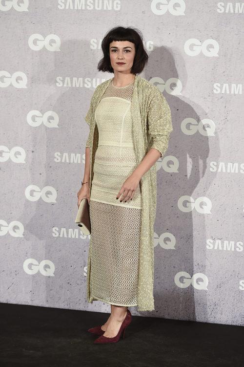 Sara Rivero con un look beige en los Premios GQ Hombre del Año en Madrid