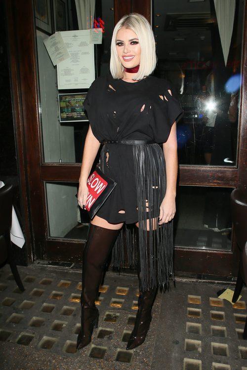 Chloe Sims celebrando su cumpleaños en Londres