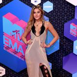 Stefanie Giesinger con un vestido nude en los MTV EMA 2016