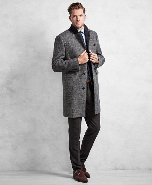 Abrigo gris de Brooks Brothers otoño/invierno 2016/2017