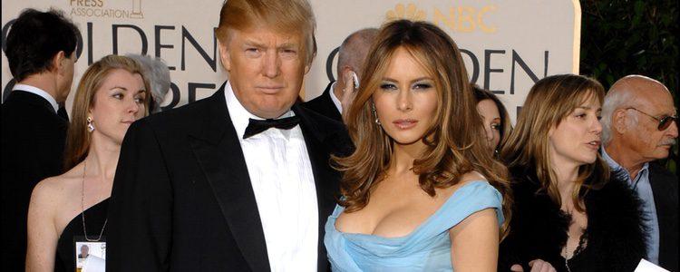 Donald y Melania Trump en los Premios Globos de Oro 2007