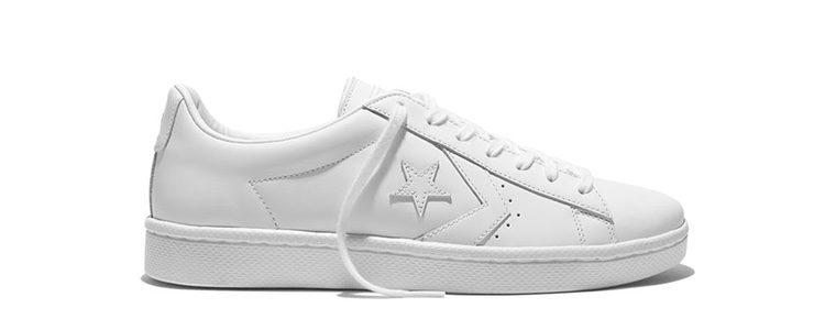 Sneakers blancas de la colección 'Pro Leather '76' de Converse y Nike