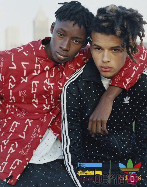 Negra Y Pharrell Adidas De Colección Chaquetas Williams Roja La TxE5Bqqzw