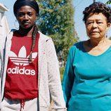 Sudadera roja de la colección de Adidas con Pharrell Williams