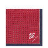 Pañuelo rojo y azul de la colección de Hawes & Curtis con el Príncipe Carlos