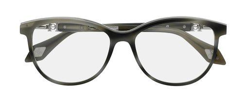 Gafas con montura gris redonda de la colección 'Vista 2016' de Carolina Herrera