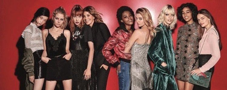 Modelos de la nueva campaña Navidad 2016 de Topshop