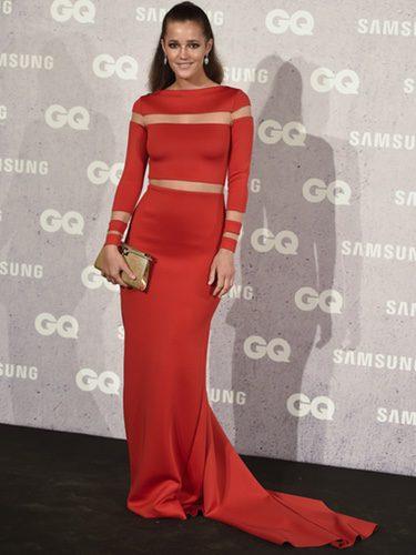 Malena Costa con un vestido rojo en los Premios GQ al Hombre del Año 2016