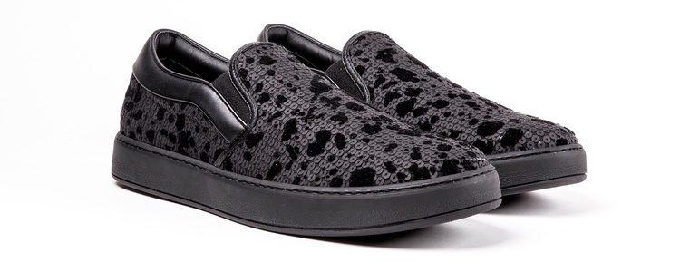 Sneakers negras con lentejuelas de Dior Homme primavera/verano 2017