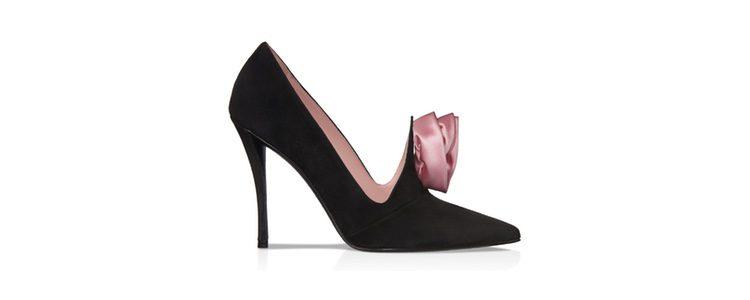 Zapatos de tacón negros y rosas de Roger Vivier colección Navidad 2016