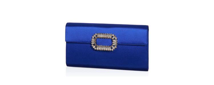 Bolso azul eléctrico de Roger Vivier colección Navidad 2016