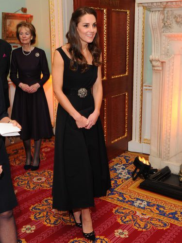 Kate Middleton con un total look black en los Place2Be Awards 2016 en Londres