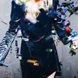 Vestido azul brillante de Bershka para Navidad 2016
