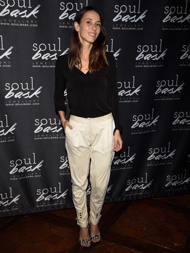 Bárbara Goenaga en el photocall de la presentación de los 'Anillos solidarios' de SoulBask