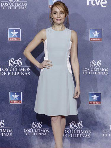 Cristina Castaño con un look romántico en la premiere de 'Los últimos de Filipinas'