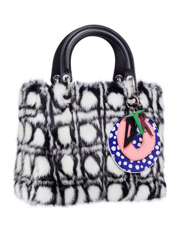 Bolso con tejido de pelo de la colección 'Lady Art' de Dior