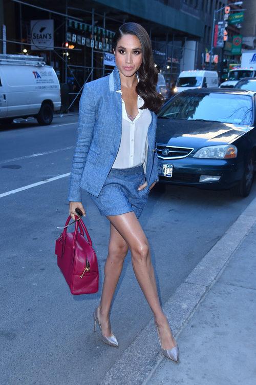 Meghan Markle con unos shorts por las calles de Nueva York