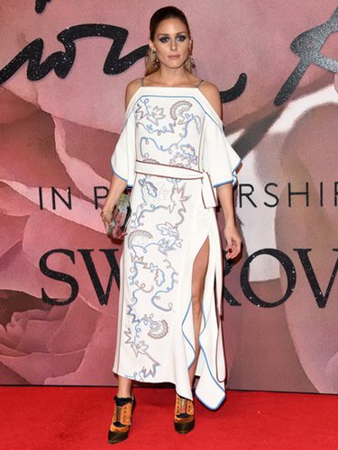 Olivia Palermo con un look étnico en los British Fashion Awards 2016
