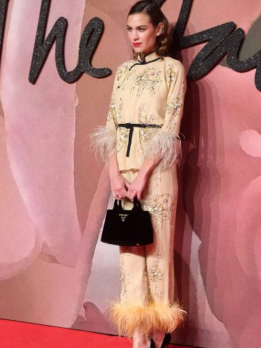 Alexa Chung con un look oriental en los British Fashion Awards 2016