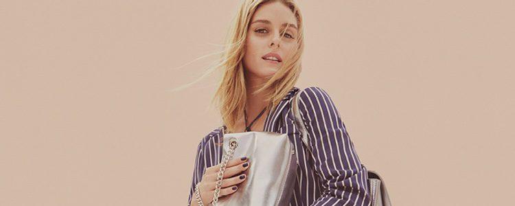 Olivia Palermo y los bolsos metalizados de MAX&Co primavera/verano 2017