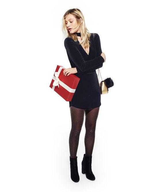 Vestido mini de terciopelo de Primark colección Navidad 2016
