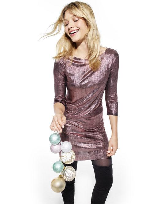 Vestido rosa de lentejuelas de Primark colección Navidad 2016