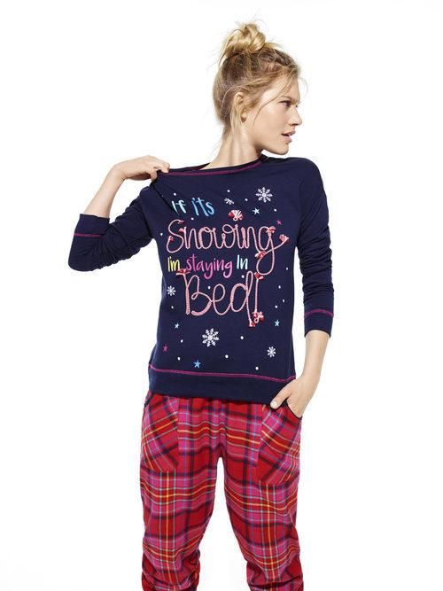 Pijama azul y rojo de Primark colección Navidad 2016