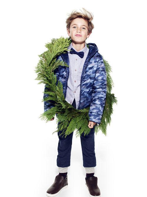 Abrigo de estampado de camuflaje de Primark colección niños Navidad 2016