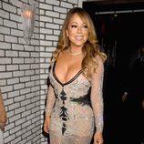 Mariah Carey con un gran escote en las calles de Nueva York