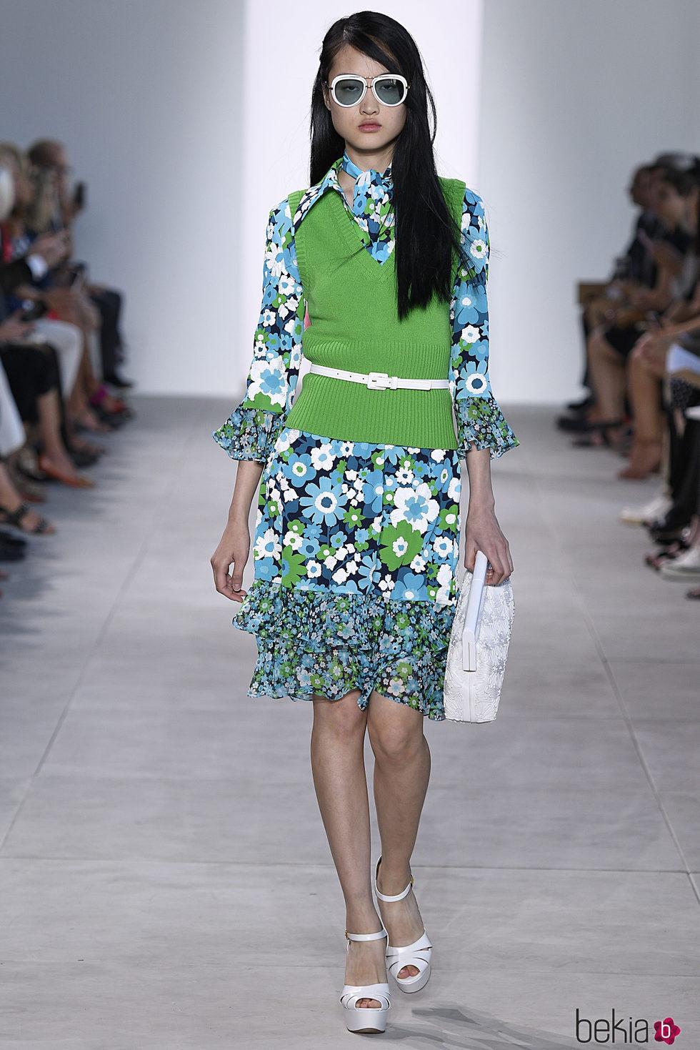 Jersey 'greenery' de Michael Kors primavera/verano 2017 en la New York Fashion Week