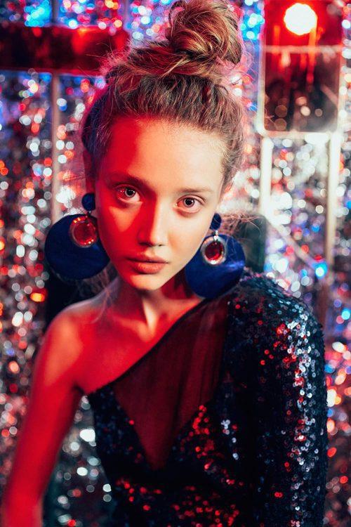 Vestido asimétrico de Bimba & Lola colección Navidad 2016