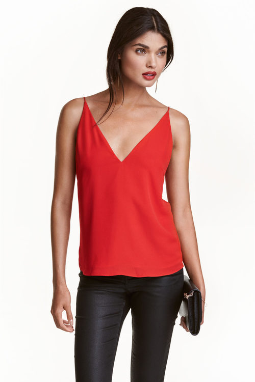 Camisa roja de H&M colección Navidad 2016