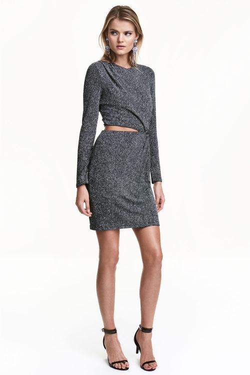 Vestido plateado de H&M colección Navidad 2016
