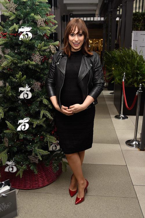 Natalia Verbeke con un total look black en su presentación como imagen de El Corte Inglés