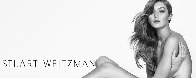 Gigi Hadid posa desnuda en la campaña primavera/verano 2017 de Stuart Weitzman