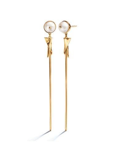 Pendientes largos dorados de Eddie Borgo para Tiffany & Co
