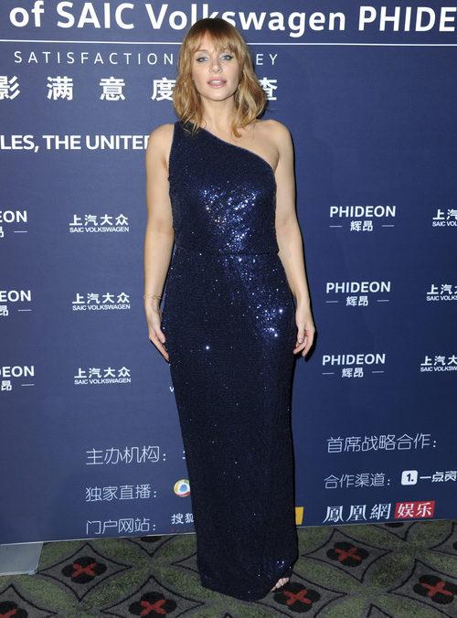 Bryce Dallas Howard con un vestido brillante en la 21ª Edición de los Huading Global Film Awards